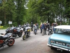 Heureux hasard : pause avec de sympathiques motards