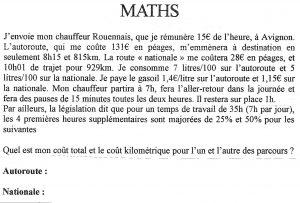 Pour les absents le probleme de math demeure amusez-vous